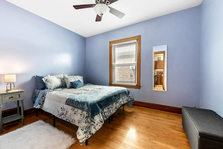 Beautiful light and bright Queen Suite 1 with closet.