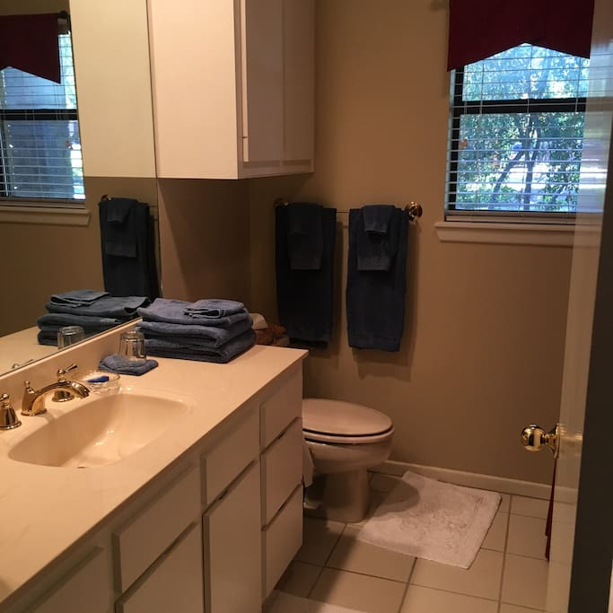 Full Private Bathroom: adjacent to bedroom