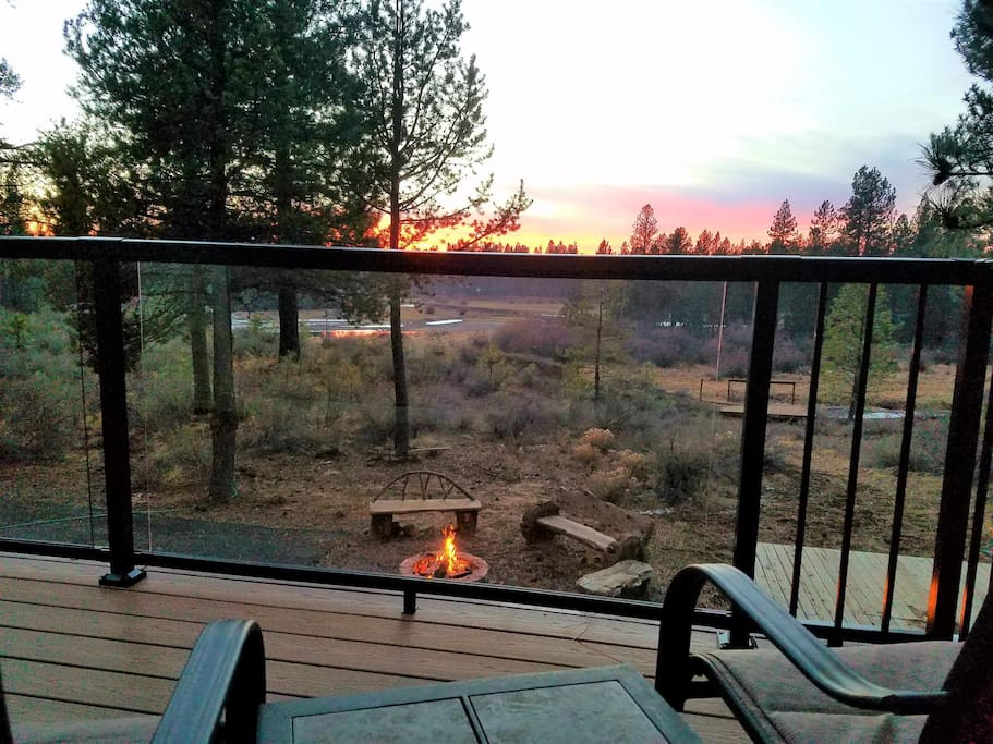 Enjoy beautiful river views from the private master bedroom balcony