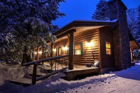 Charming Adirondack Log Cabin Mirror Lake access