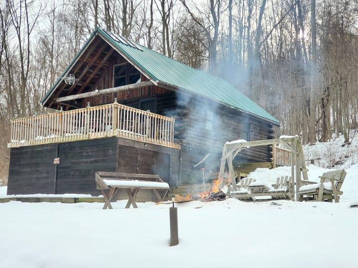 Captain Frank's off grid log cabin