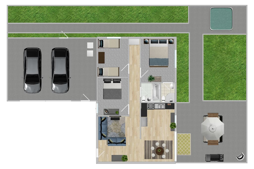 Floor Plan of the home.