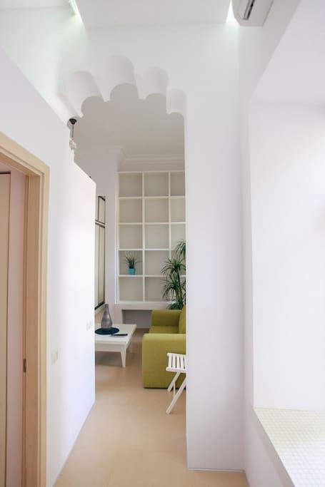 Коридор – вид от вдохной двери