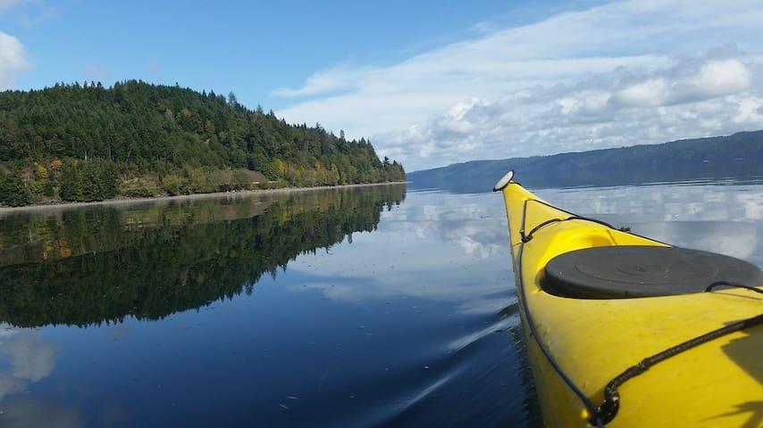 Rent a kayak and explore.