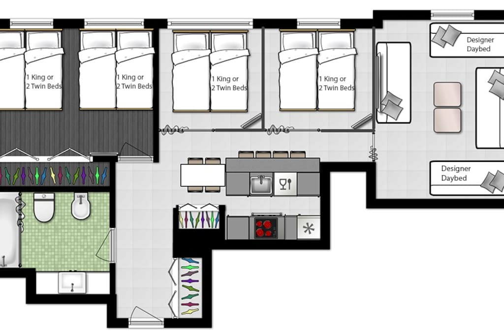 Floorplan Casa Grande unit