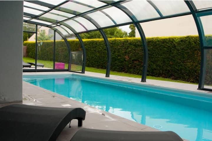 Villa Letty : maison avec piscine et sauna