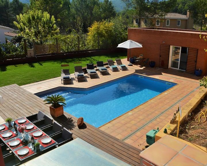 Villas Sitges Maria, Comodidad, Piscina, Jardín