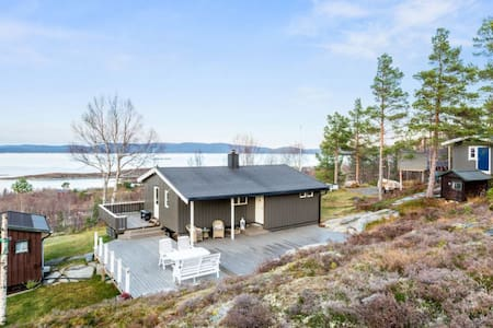 Cabin by the sea with a spectacular view - Hemne - Kabin