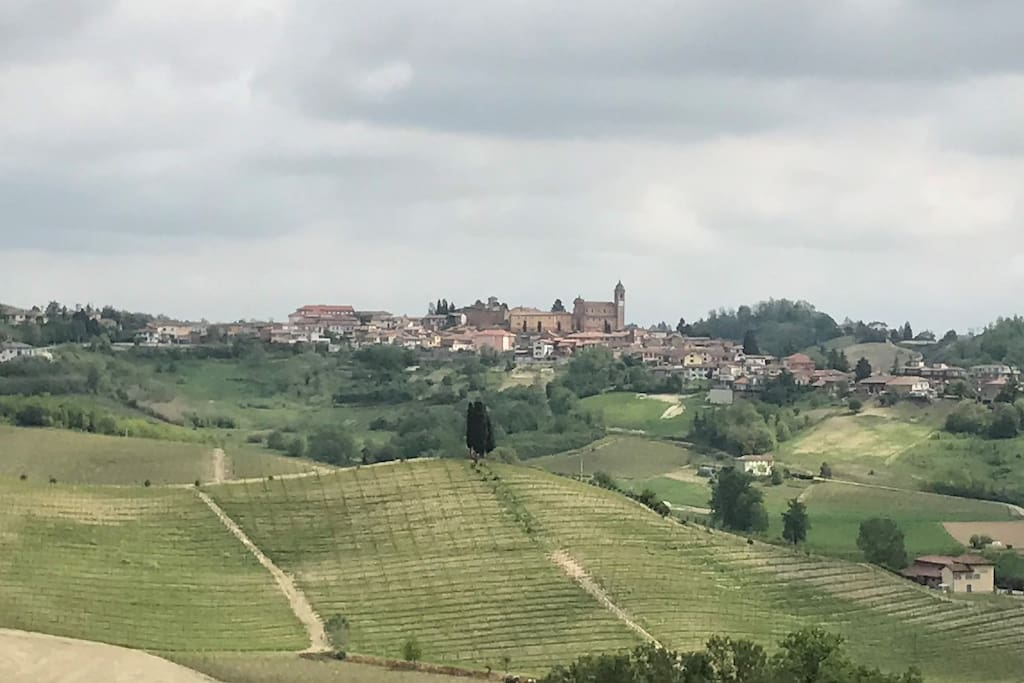 The village Castelnuovo Calcea. The farm is within walking distance.