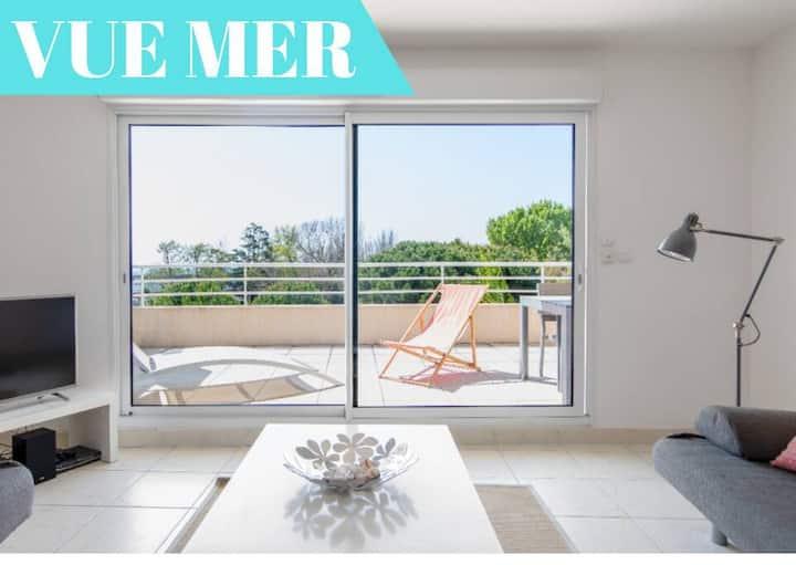 White Zen I - Bel appartement avec vue mer