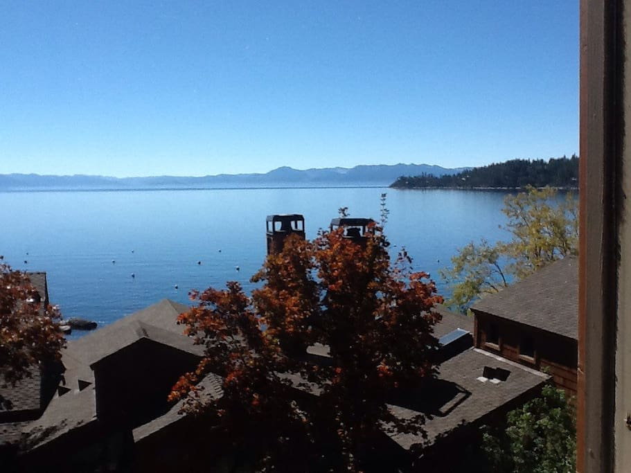 Beautiful Lake Tahoe is what you see out the window and is just steps away from the front door!