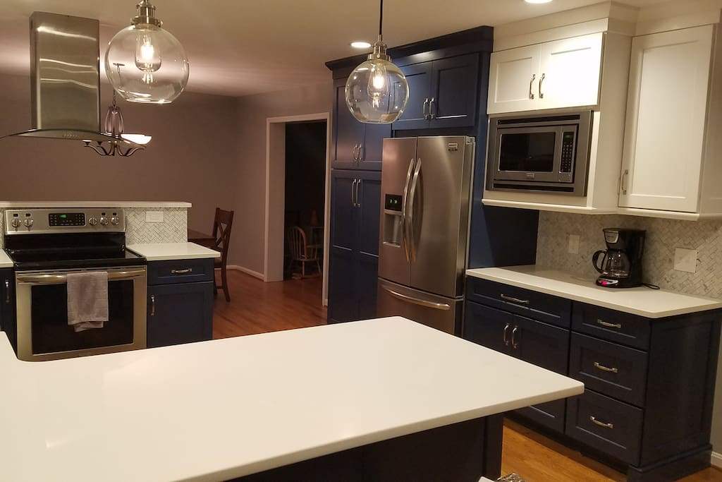 Updated kitchen - View from the back door