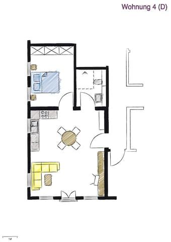Apartmentwohnung No4-Stadtblick