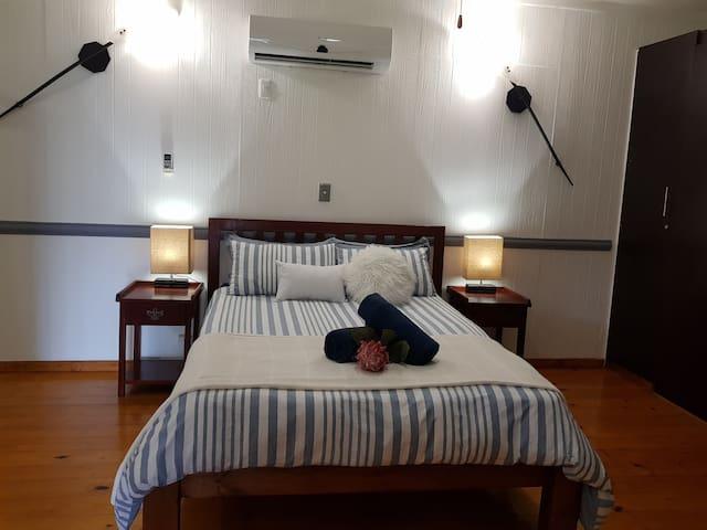 Unit A Bedroom with en-suite bathroom