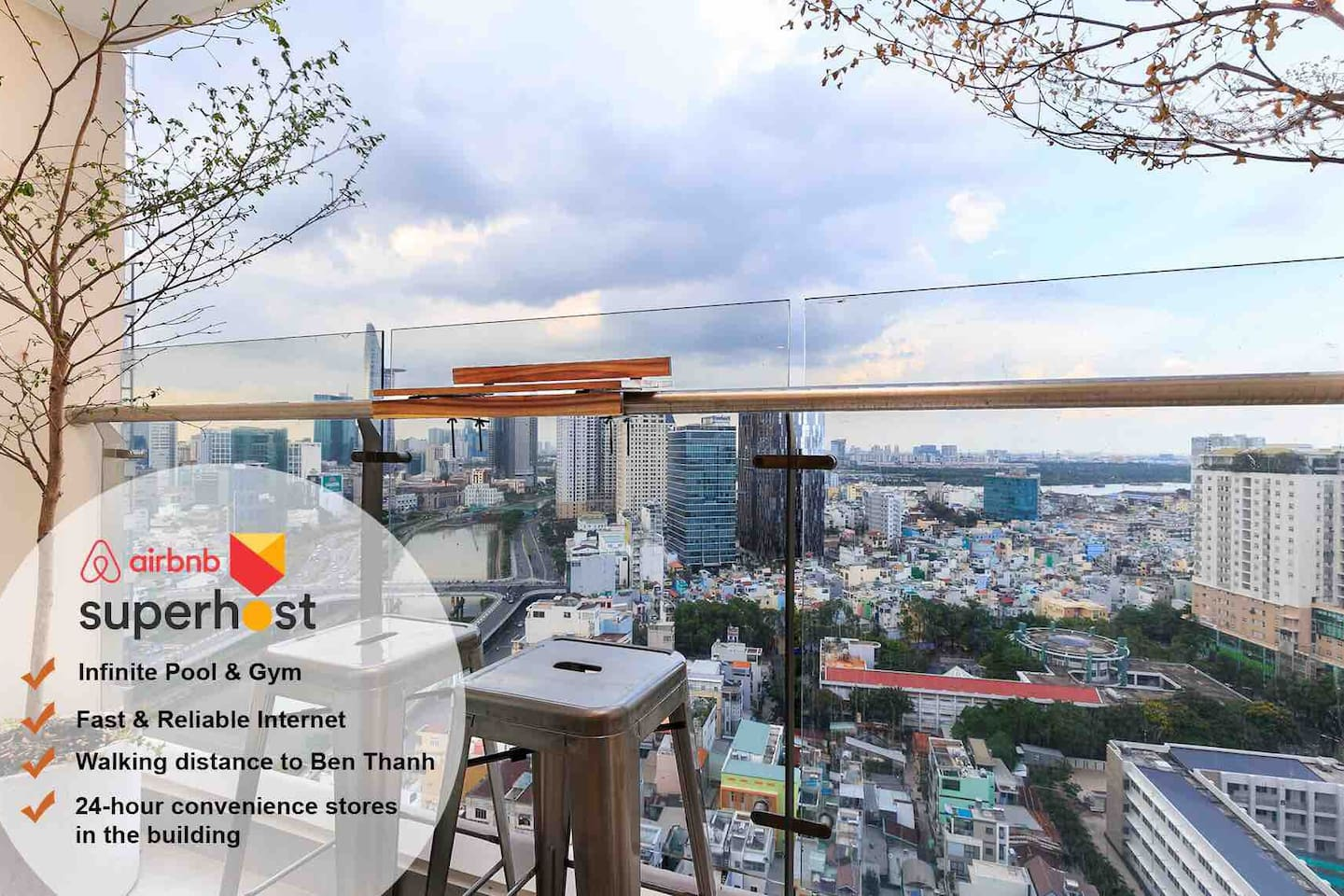 Stunning Bitexco and river view from balcony and 2nd bedroom. You can enjoy also the gorgeous Sunrise from this view :D