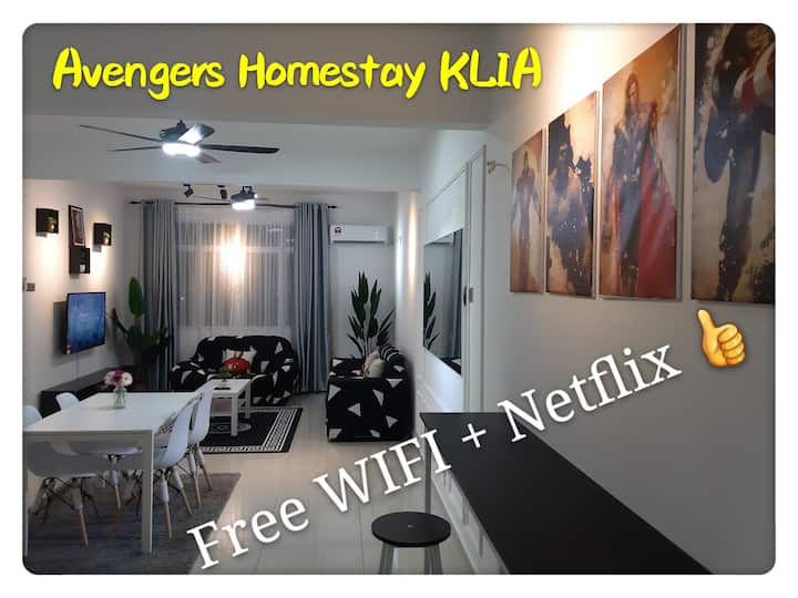 Avengers Homestay @ KLIA + FREE WIFI & Netflix