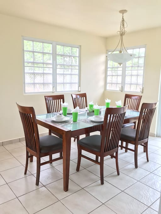 Open concept dining room.