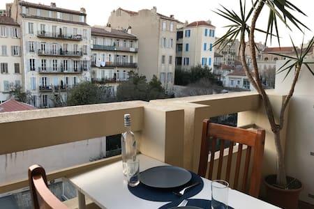 NOUVEAU studio calme tout équipé + draps - Marseille - Apartment