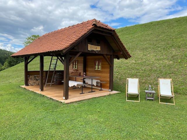 Hut at the Eco-farm Artisek