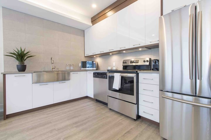 Stunning Downtown 3 Bed, Brand New with Parking