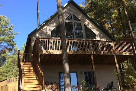 Bear's Den Lakefront Chalet w/outdoor hot tub! - Gaylord - Ház