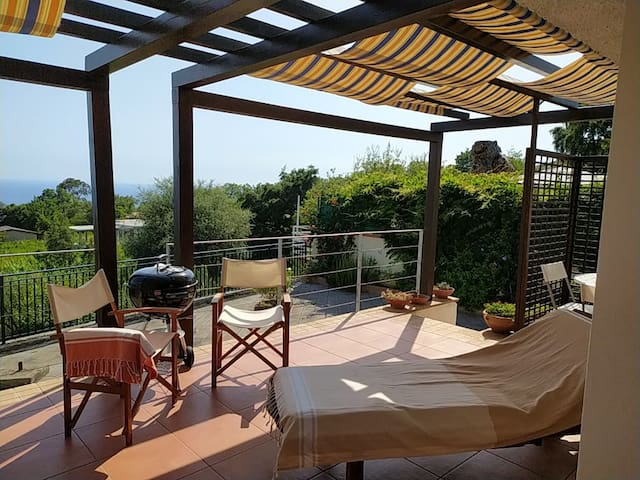 Luna saprese, villa 80sqm over the Policastro Gulf