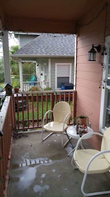 Enjoy the front porch and outdoors. Wave hi to the neighbors!