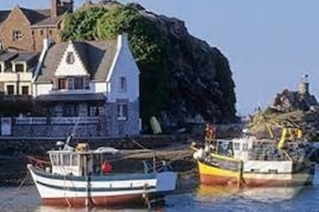Maison bleu Loguivy de la mer