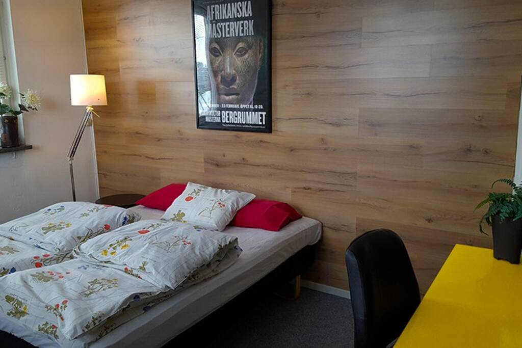 Bedroom, one double bed