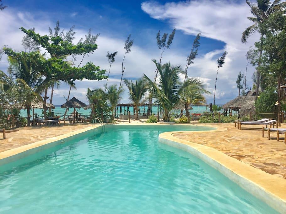 Sea view swimming pool