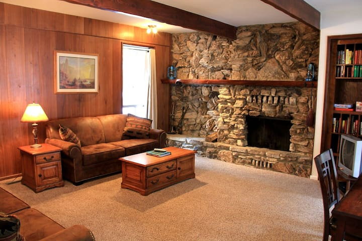 Living room with wood fireplace (wood provided in season)