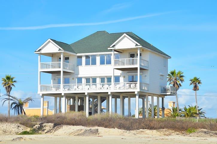 BeachFront 5BR 4BA Home - Sleeps 16 - Galveston - Casa