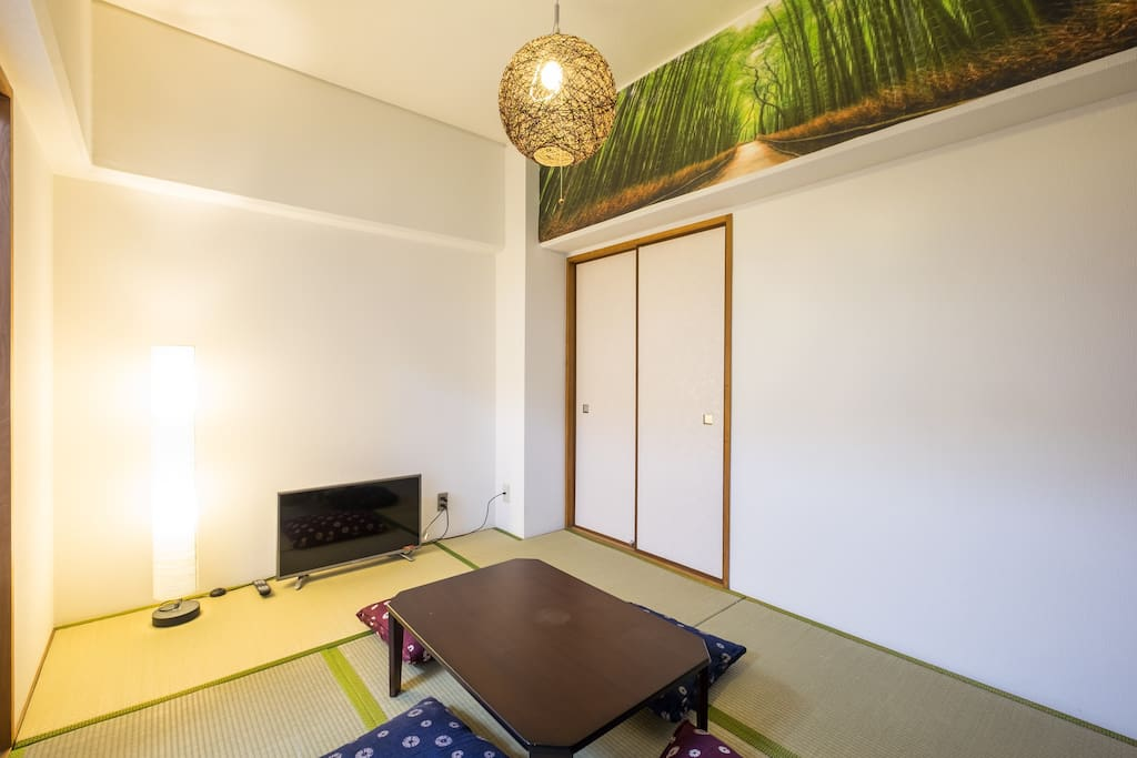 Japanese style room for 3 people.