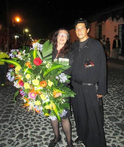 This is Edgar and I during the Semana Santa processions