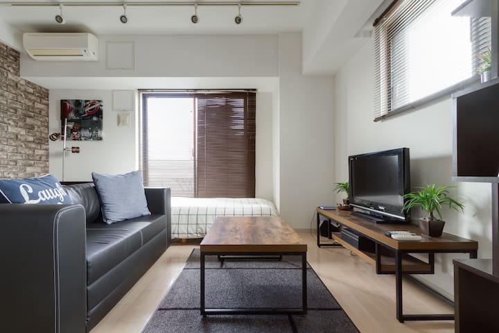 3pax Popular Umeda area Juso Sta 6 min! Urban room - Ōsaka-shi - Apartment