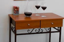 Decanter & Wine by the Bedroom
