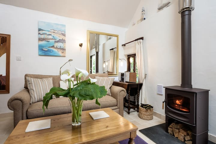 Woodburner provides a focal point for cozy winter days