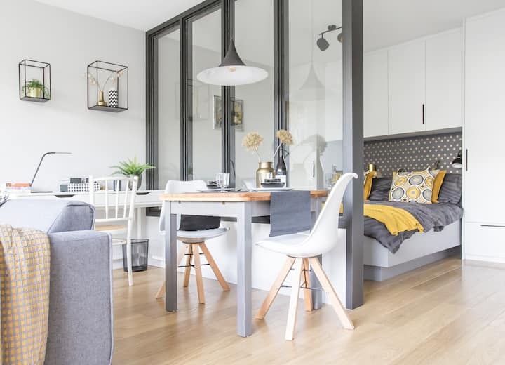 Luxurious boutique studio apartment with garden