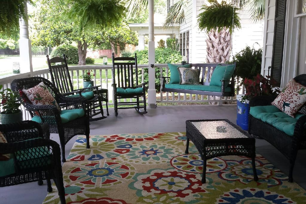Seating on the front porch.