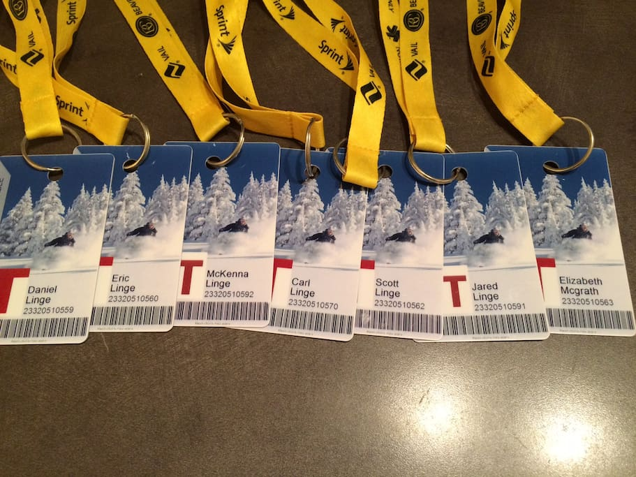 Seven (7) Free Lifetime Ski Passes.  A savings of $800+/day in ski lift tickets.