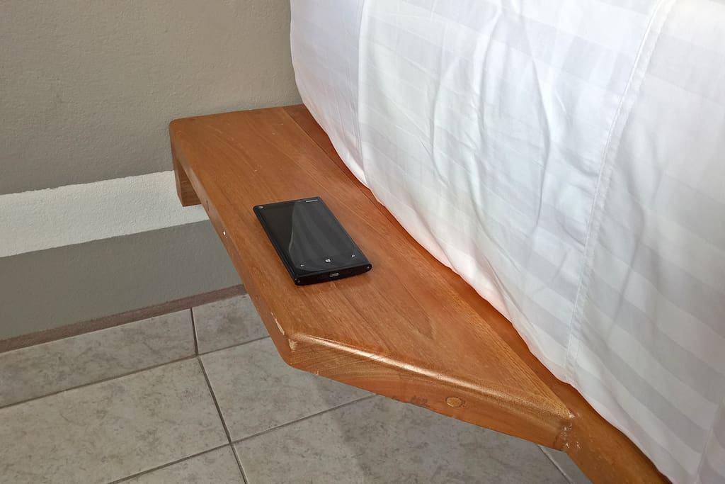 Mobile device bed side.
