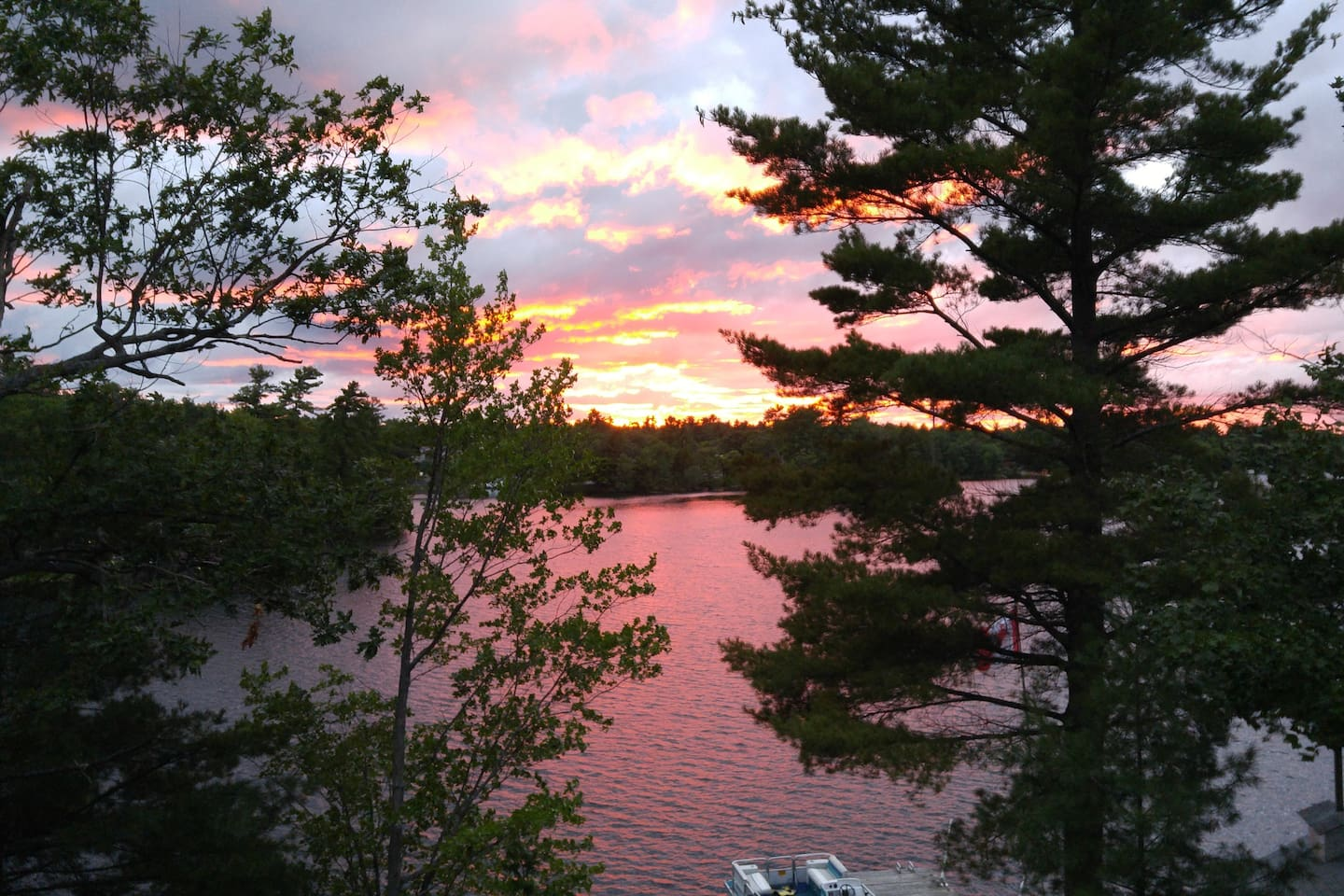 View from back deck of cottage