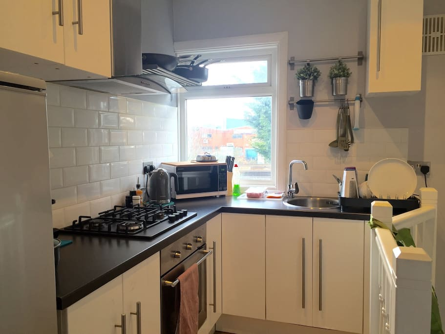 Kitchen with access to the rear garden....however there's some good local restaurants and take away so can recommend.