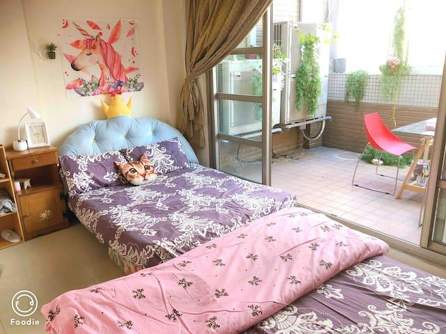 MRT5 Mins|Private Balcony Room|Nangang Station