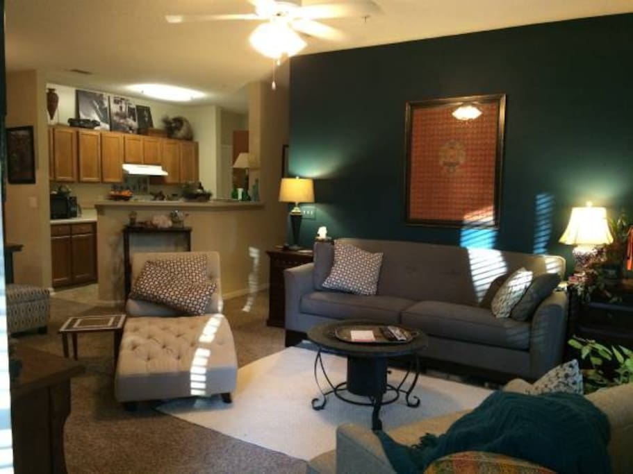 Shared living space with cable TV, hulu, netflix and amazon.