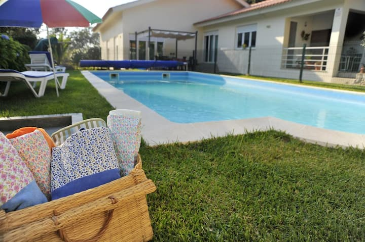 House with 2 bedrooms in Afife, with wonderful mountain view, shared pool, enclosed garden
