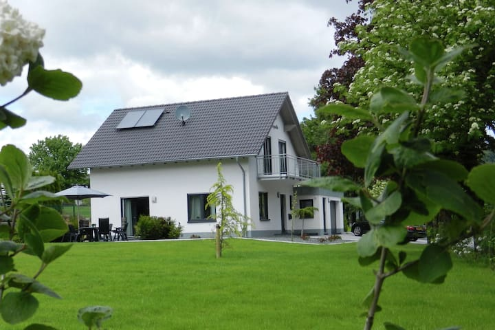 Modern detached holiday house in Sauerland with a large garden and balcony