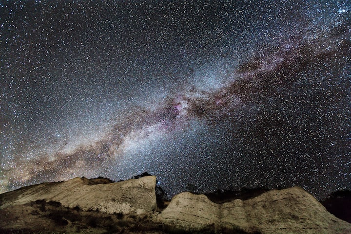 Milky Way at Møns Klint