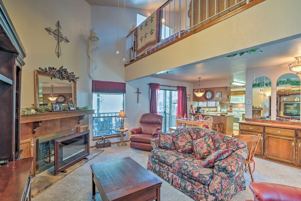 The 2,200-square-foot townhome provides all the comforts and accommodations of home.