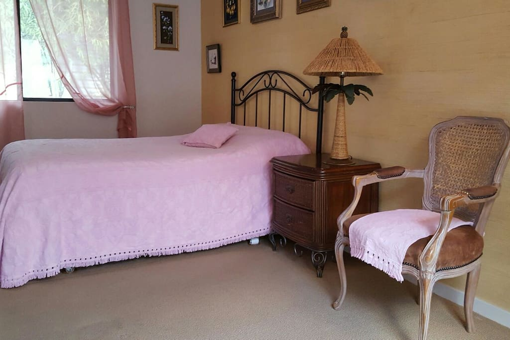 the bedroom with one a bed